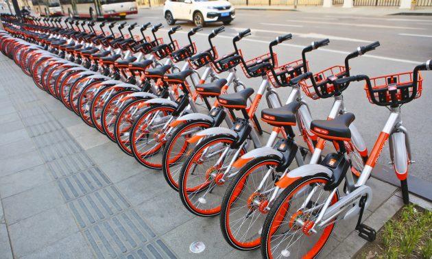 2017年3月,在中國天津的摩拜單車(Mobike)照片:iStock