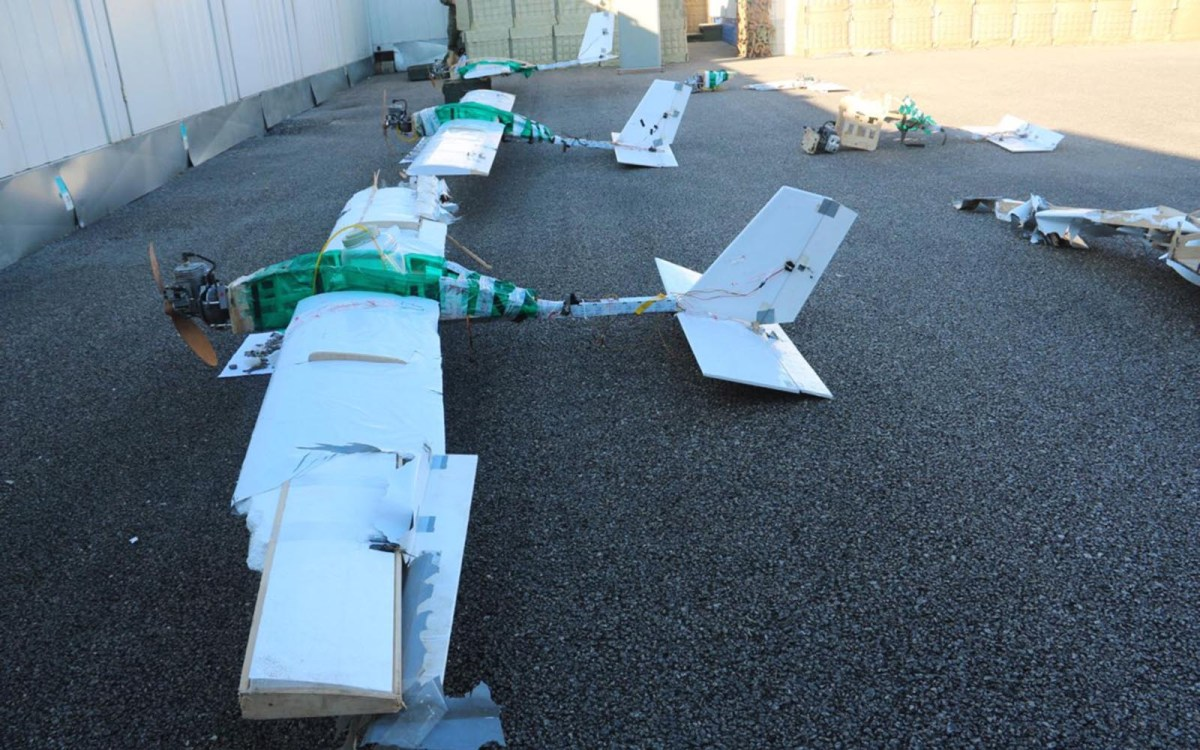 Drones used in an attack on Russian military bases in Syria. Photo: Ministry of defence of the Russian Federation via AFP