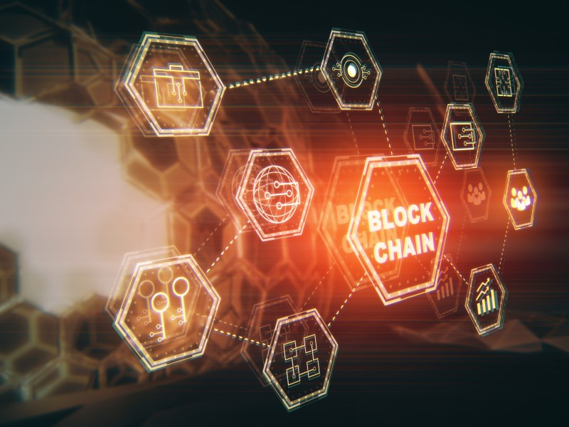 Blockchain technology. Photo: iStock