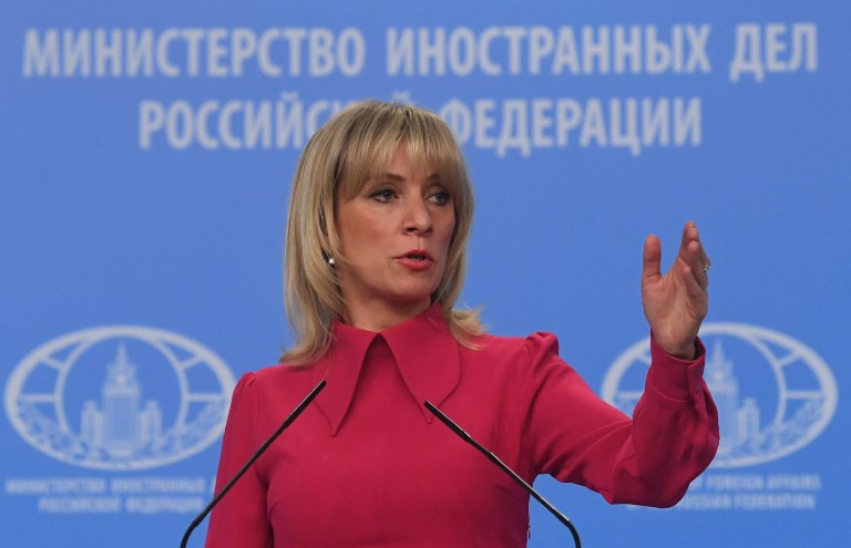 Russian Foreign Ministry Spokesperson Maria Zakharova. Photo: Sputnik via AFP/Kirill Kallinikov