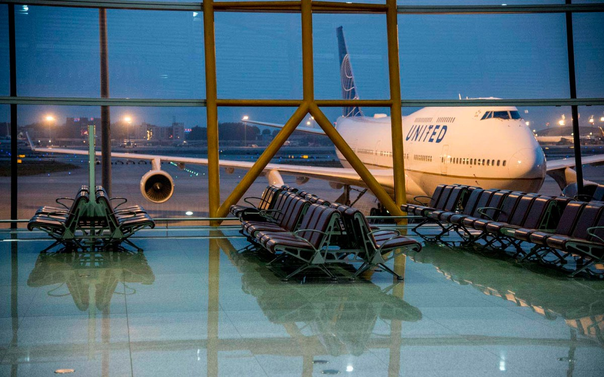 A United Airlines Boeing 747 in Beijing airport. Photo: iStock