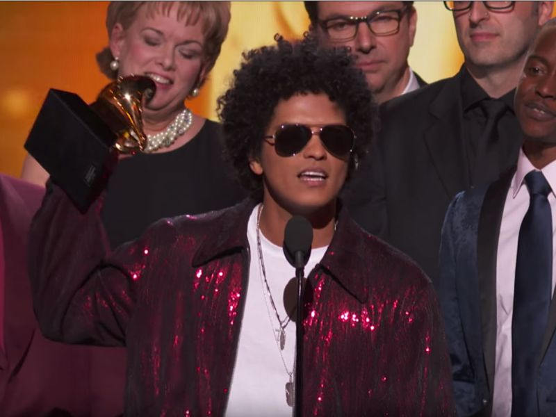 Bruno Mars at the 60th Annual Grammy Awards. Photo: Grammy Awards