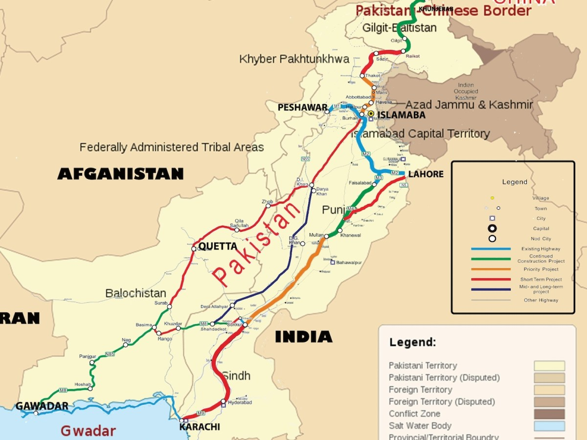 The China-Pakistan Economic Corridor aims to strengthen China's strategic and economic ties in South Asia and help Pakistan reduce its dependency on the US and its allies in the West.Image: Wikimedia Commons