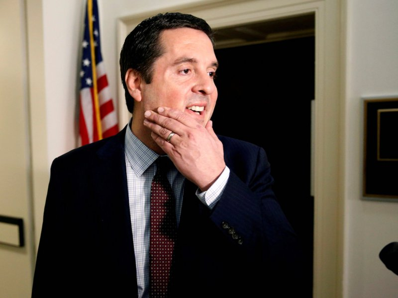 The chairman of the US House Intelligence Committee, Devin Nunes, speaks to reporters on Capitol Hill in Washington on March 29, 2017. File Photo: Reuters / Joshua Roberts/
