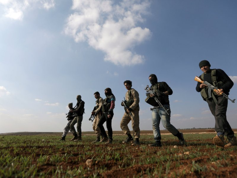 Kurdish fighters in the northern Aleppo countryside in Syria. Photo: Reuters / Khalil Ashawi