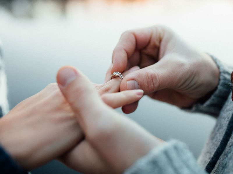 It's not unusual for lovers to be up in the air over each other, but not always literally. Photo: iStock