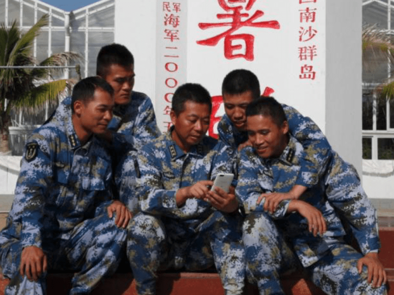 PLA troops stationed on islands in the South China Sea will now have access to ultrafast telecom networks. Photo: Xinhua