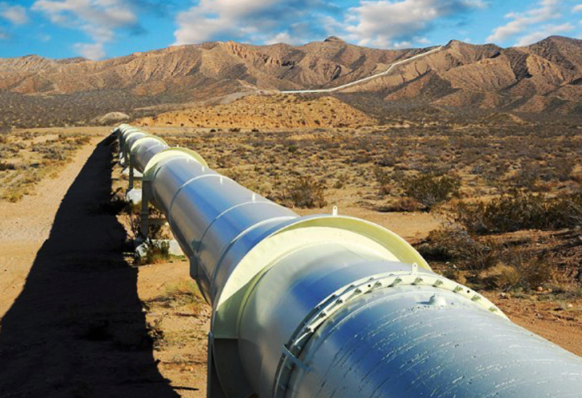A portion of the natural gas pipeline that runs from Central Asia to China. Photo: Getty Images