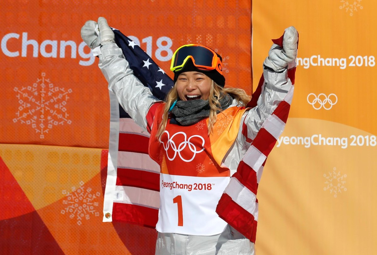 Chloe Kim after winning her gold medal at the Winter Olympics. Photo: Reuters / Jorge Silva