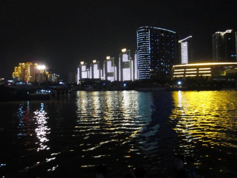 View of the Gulf of Sanya, Hainan at Night. Photo: Wikipedia Commons