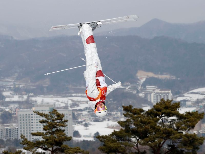 Canada's Mikael Kingsbury in the Freestyle Skiing qualifying round. Photo: Reuters / Issei Kato