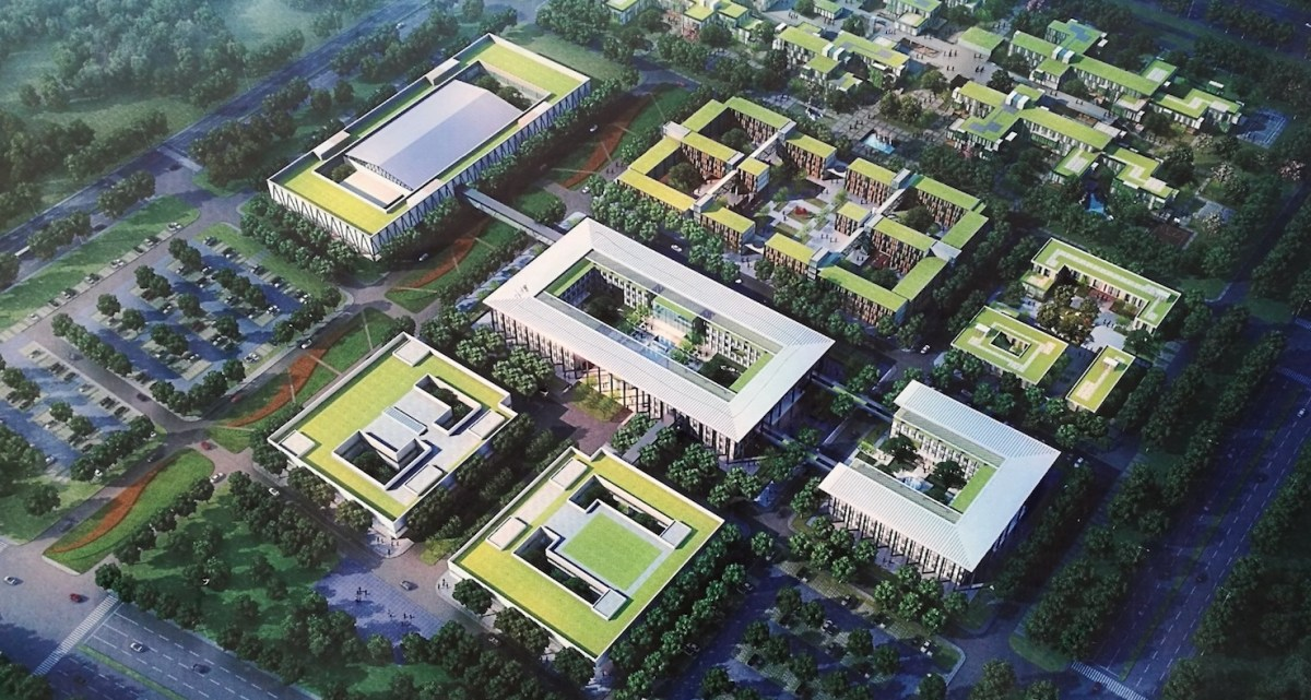 An artist's impression of the Xiongan Civic Service Center, the first construction project in the massive Xiongan New Area development.