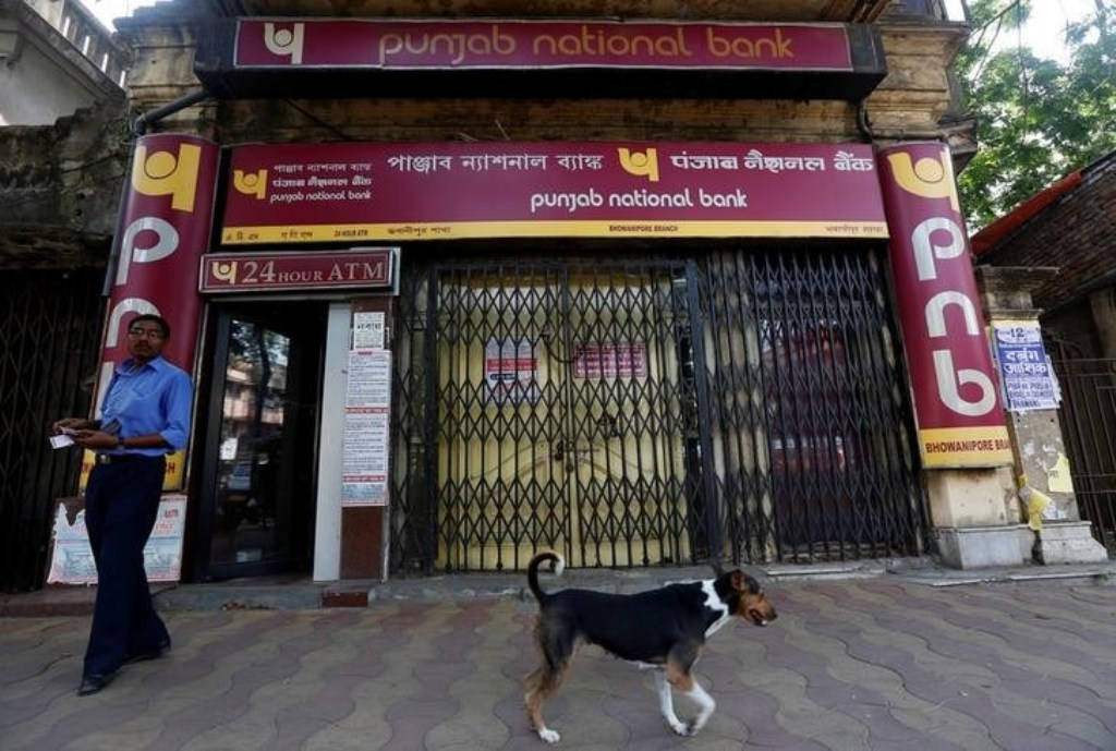 A Punjab National Bank branch in Kolkata. Photo: Reuters