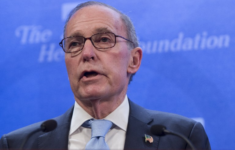 US President Donald Trump's pick to be head of the National Economic Council, Larry Kudlow. Photo: AFP/Saul Loeb
