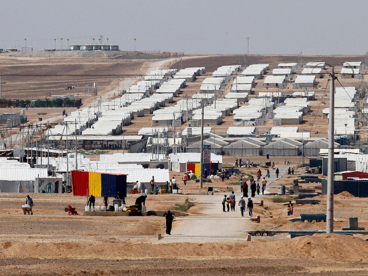 The Azraq camp for Syrian refugees in northern Jordan. Image: AFP PHOTO / Ahmad ABDO