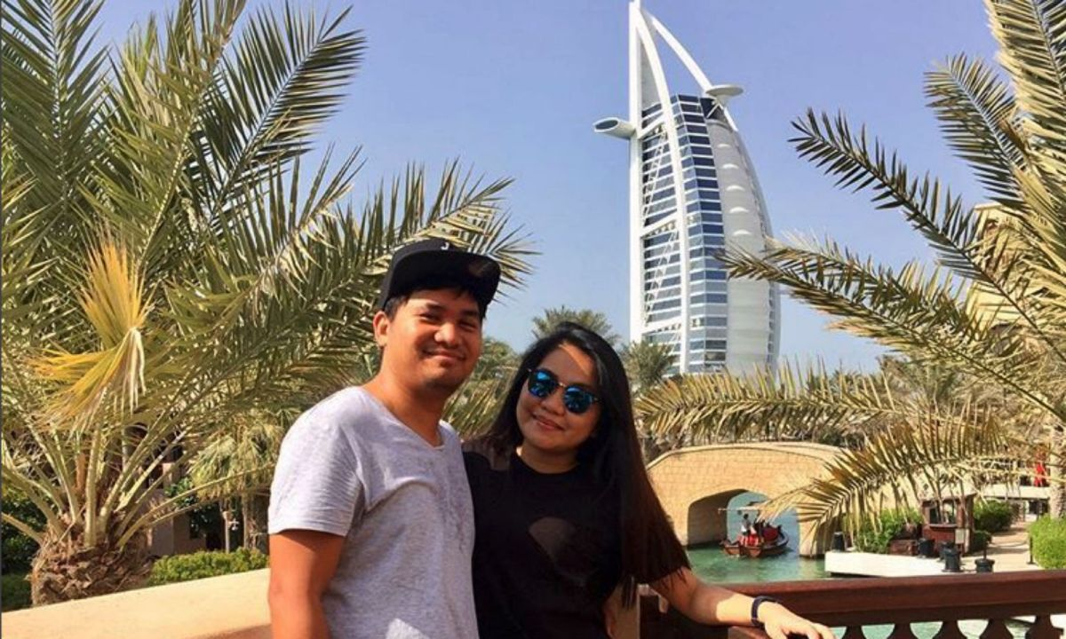 Jessica Baladjay and her boyfriend in Dubai. Photo: Instagram (Jessica Baladjay @sealedsuitcase)