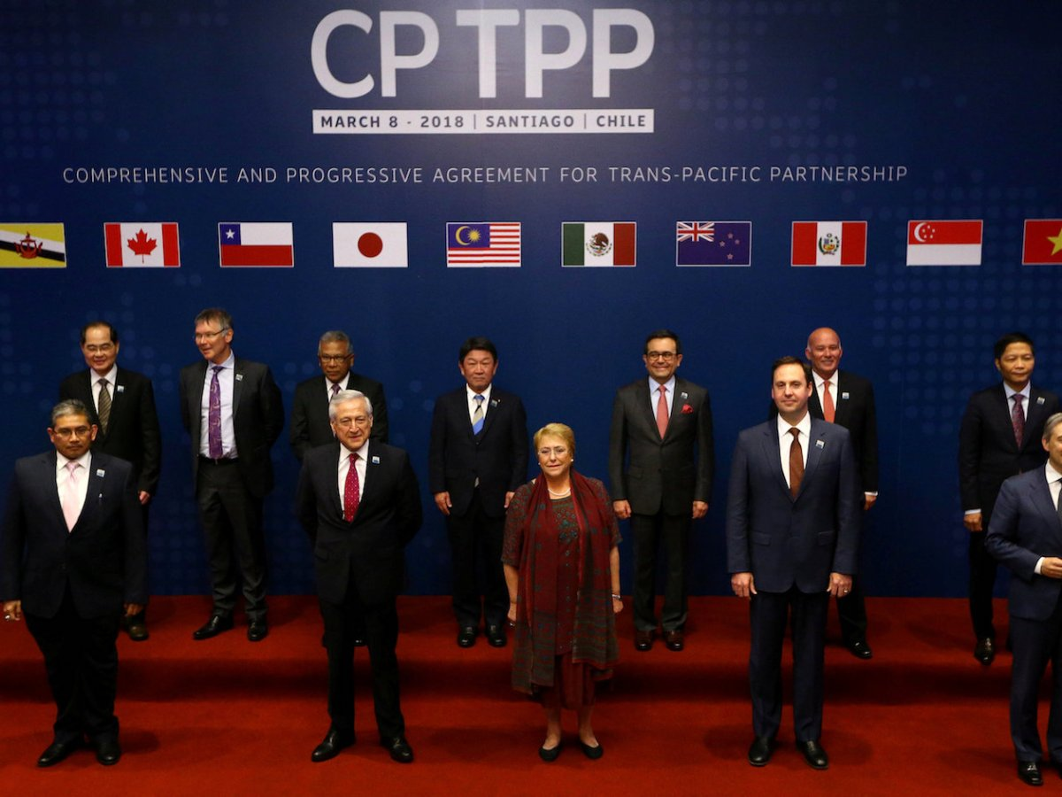 Representatives of members of the Comprehensive and Progressive Agreement for Trans-Pacific Partnership trade deal in March. Photo: Reuters / Ivan Alvarado