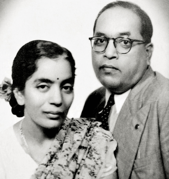 Dr B R Ambedkar, the lead architect of India's Constitution, with his wife Savita, in 1948. Photo: Wikimedia Commons
