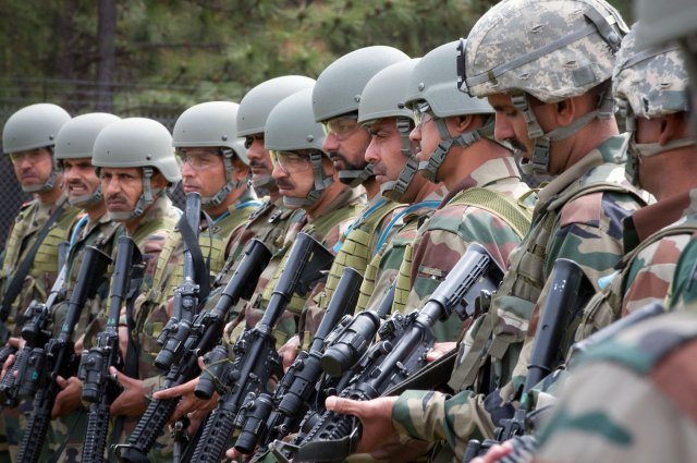 Indian Army paratroopers in a joint exercise with the US military. Photo: Wikimedia Commons
