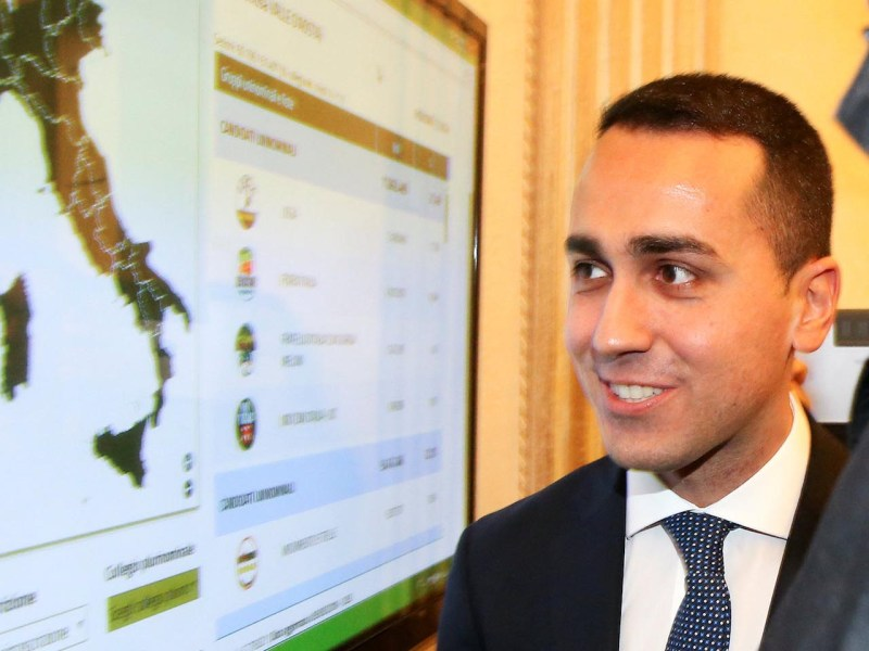 Five Star Movement leader Luigi Di Maio. Photo: Reuters/Alessandro Bianchi