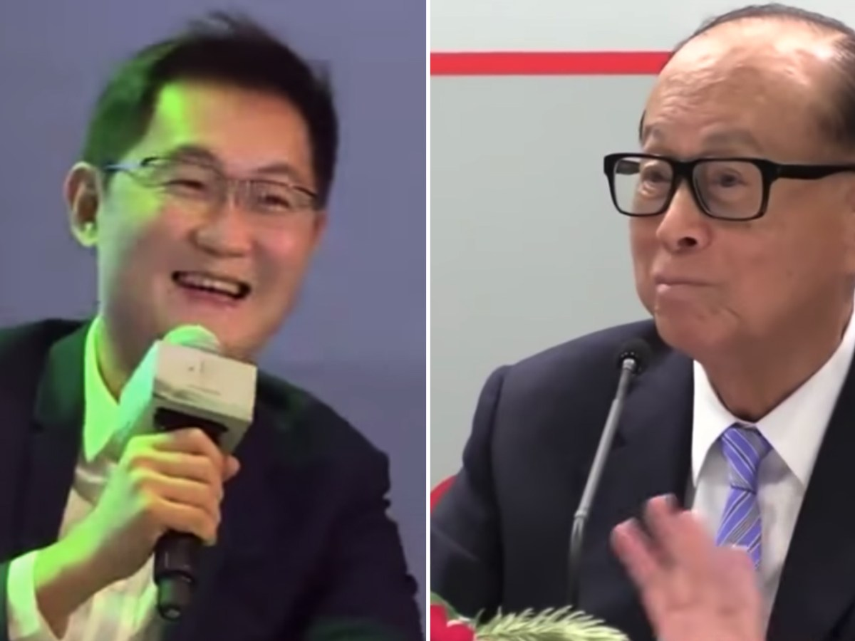 Ma Huateng (left) is the richest man in Asia while Li Ka-shing (right) is now the second richest man in Hong Kong after Lee Shau-kee. Photo: Youtube