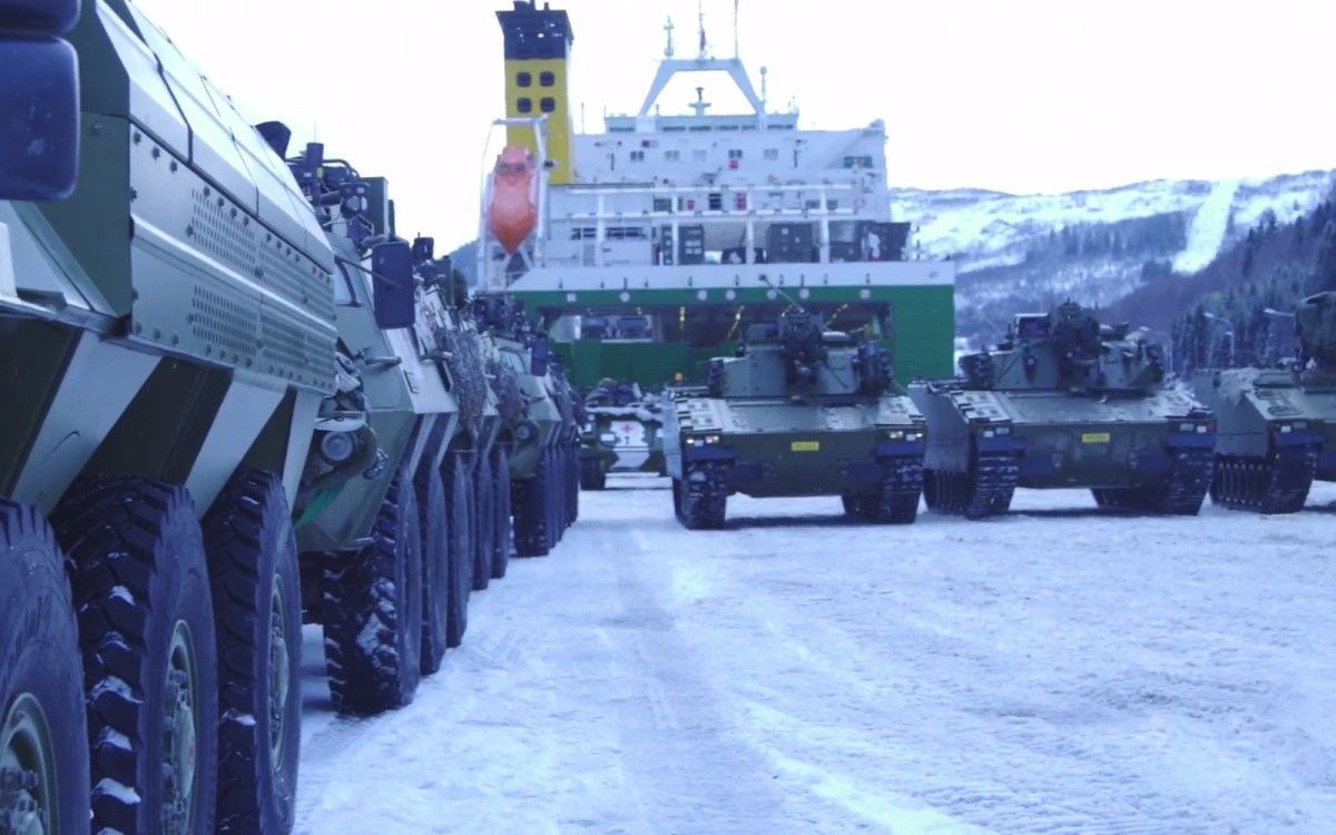 Tanks participating in the Joint Reindeer military exercises held in Norway. Source: Norwegian Army Facebook page video screen capture