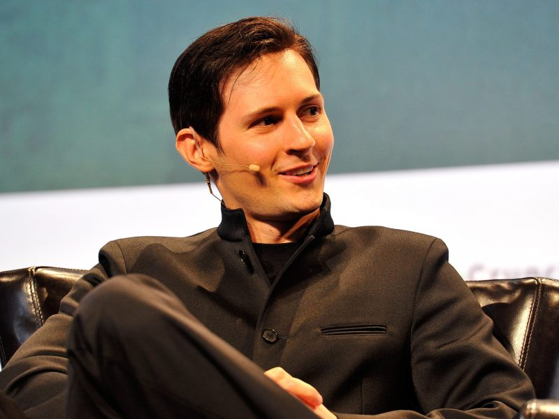 Pavel Durov, CEO and co-founder of Telegram, speaks onstage during day one of TechCrunch Disrupt SF 2015 in San Francisco, California.  Photo: Steve Jennings/Getty Images for TechCrunch