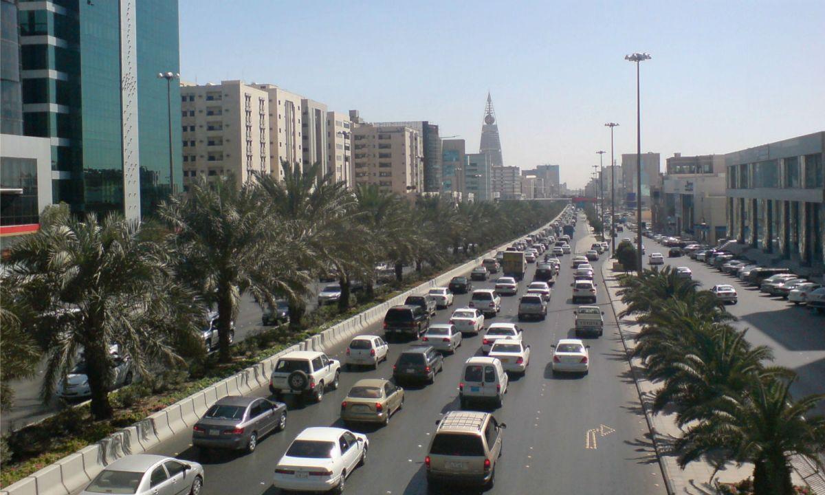 King Fahd Road in Riyadh, Saudi Arabia. Photo: Ammar shaker
