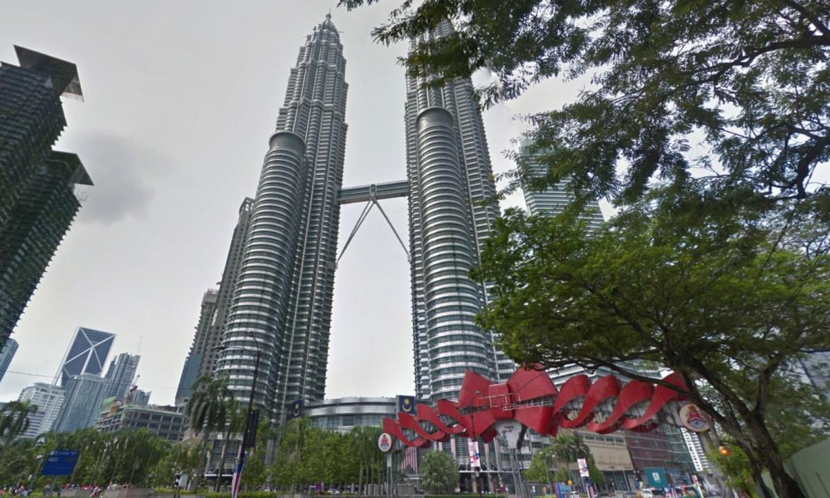 Petronas Twin Towers, Kuala Lumpur City, Malaysia. Photo: Google Maps