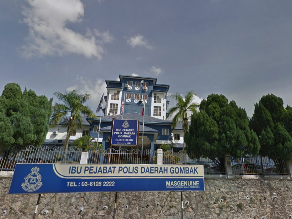 Gombak District Police Station in Selangor, Malaysia. Photo: Google Maps