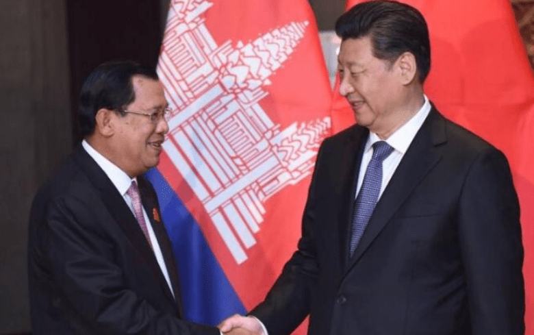 Cambodian Prime Minister Hun Sen and Chinese President Xi Jinping. Photo: Xinhua