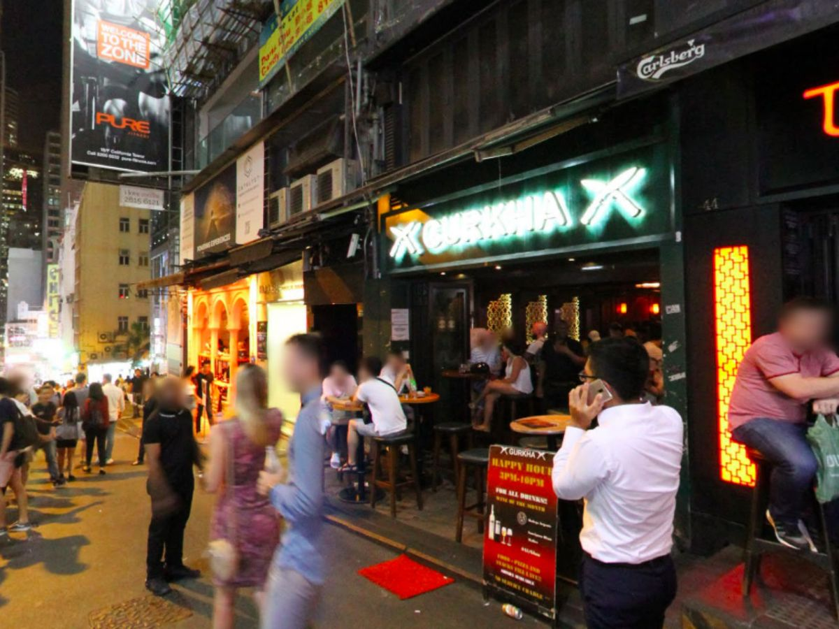 Lan Kwai Fong in Central, Hong Kong Island. Photo: Google Maps