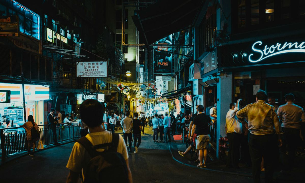 Lan Kwai Fong in Central, Hong Kong Island. Photo: iStock