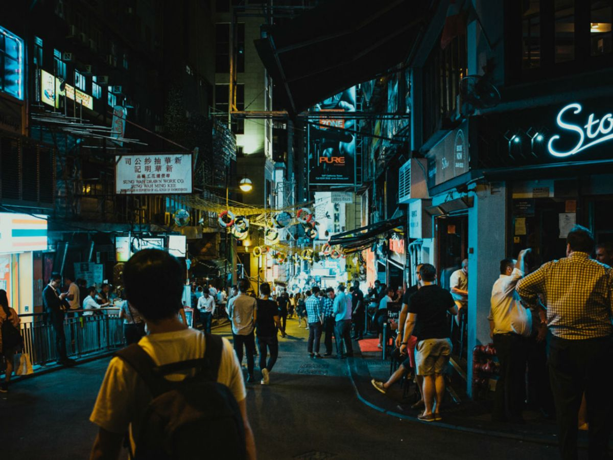 Lan Kwai Fong in Central, Hong Kong Island. Photo: iStock