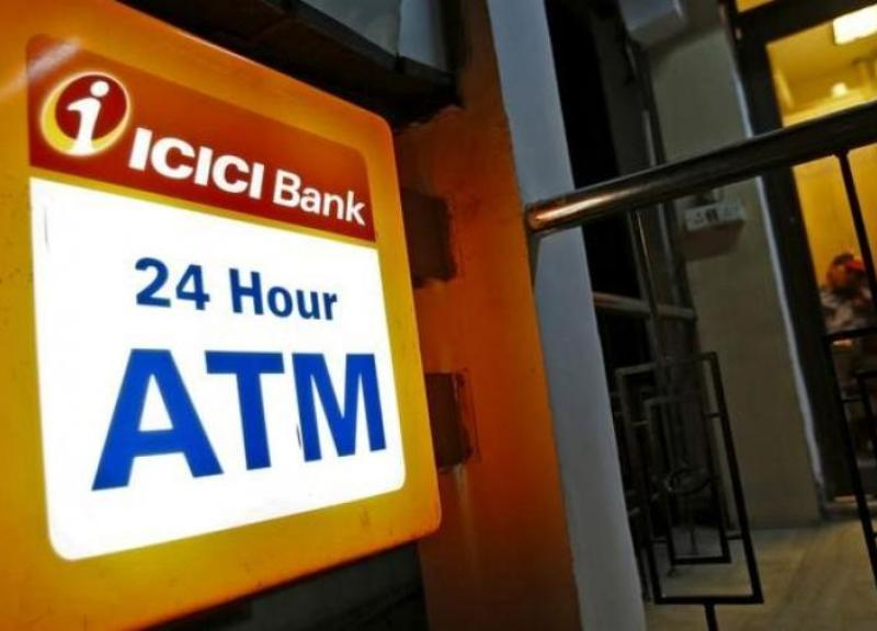 An ICICI Bank ATM in New Delhi. Photo: Reuters