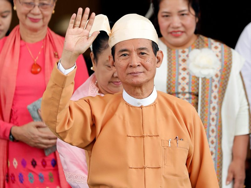 Newly elected Myanmar President Win Myint. Photo: Reuters