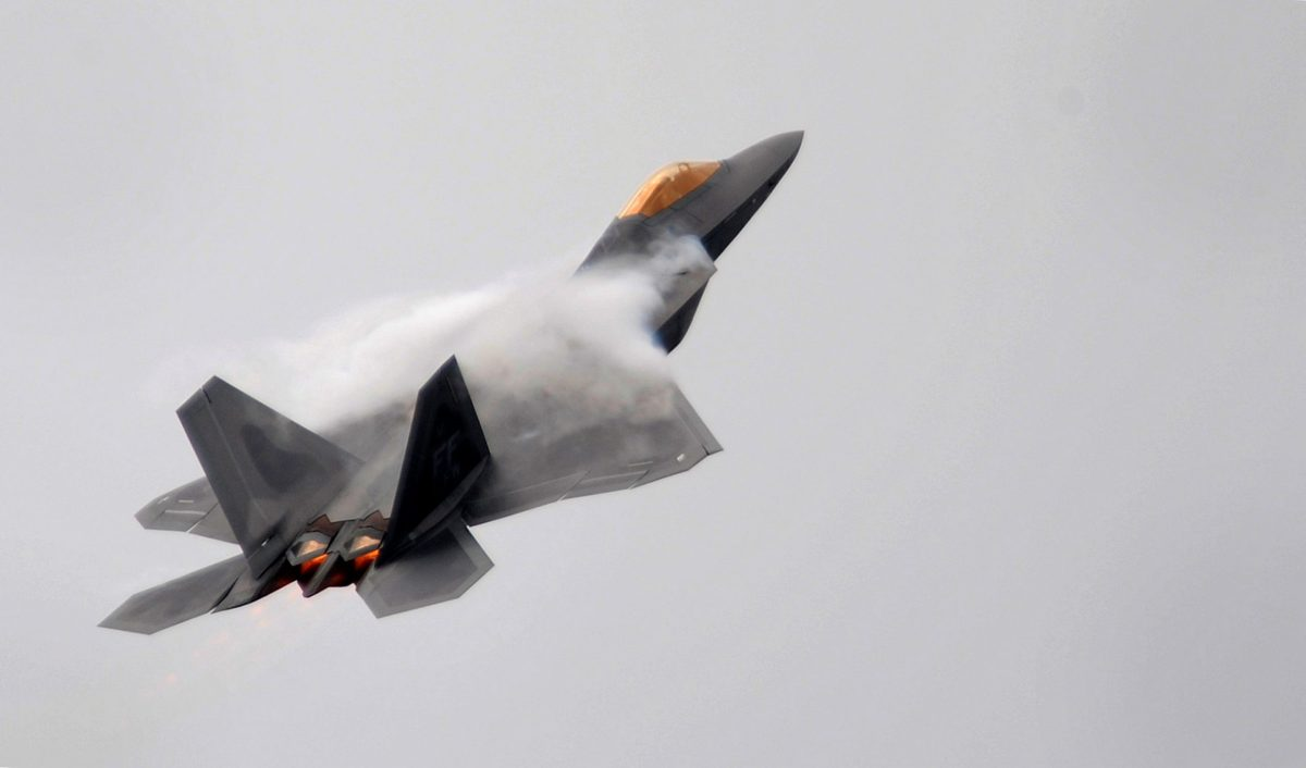 The F-22 Raptor, seen here, has been long been subject to an export ban. Photo: Reuters/Toby Melville