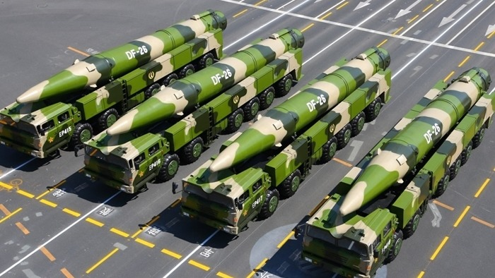 The DF-26 missiles were first seen during a PLA parade in 2015. Photo: Xinhua
