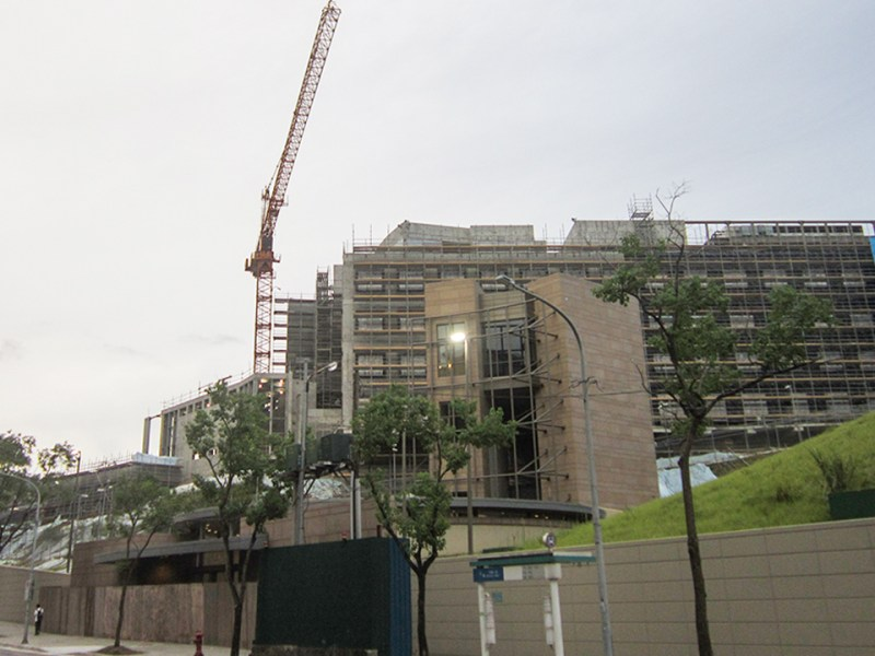 An undated photo of the new compound of the American Institute in Taiwan being built in Taipei's Neihu district. Photo: Handout