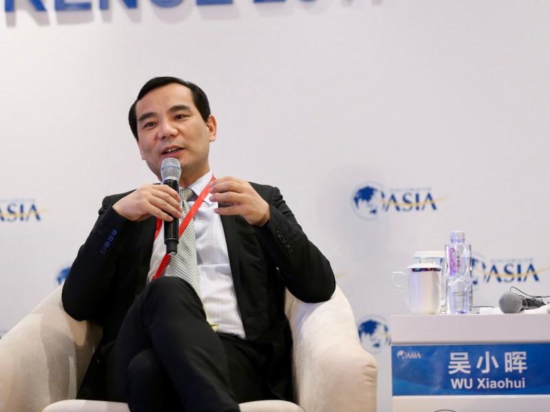 Former Anbang chairman Wu Xiaohui before his downfall. Photo: AFP