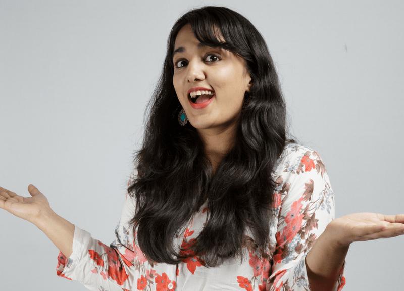 Comedian Pooja Vijay. Photo: Asia Times