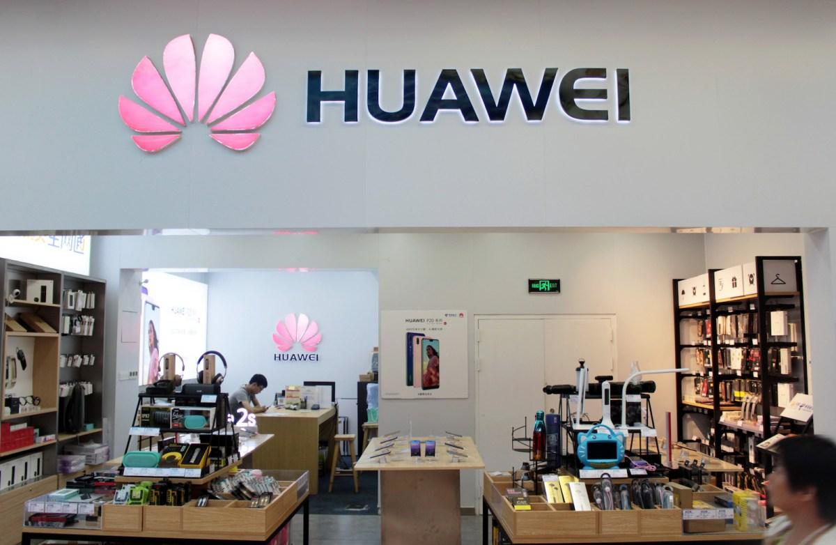 A Huawei store in Xiamen city in Southeast China's Fujian province. Photo: AFP
