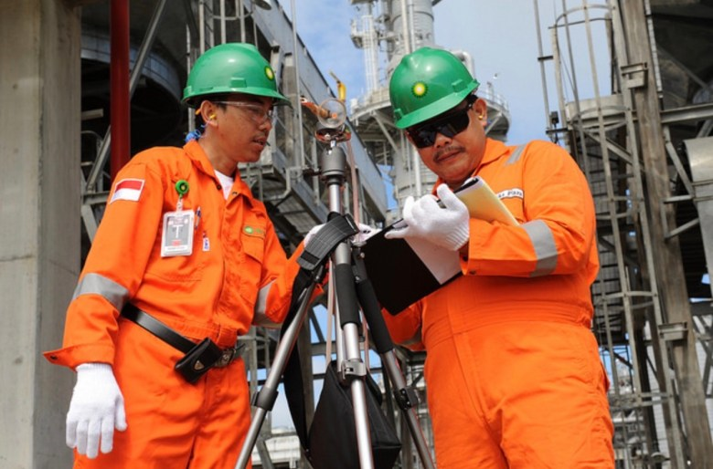 BP workers at the Tangguh natural gas project set for a massive expansion in Papua Indonesia. Photo: BP