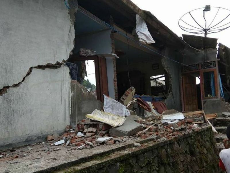 A 4.4-magnitude earthquake stuck the Barjarnegara district in central Java, Indonesia. Photo: Badan Nasional Penanggulangan Bencana (Indonesian National Board for Disaster Management)