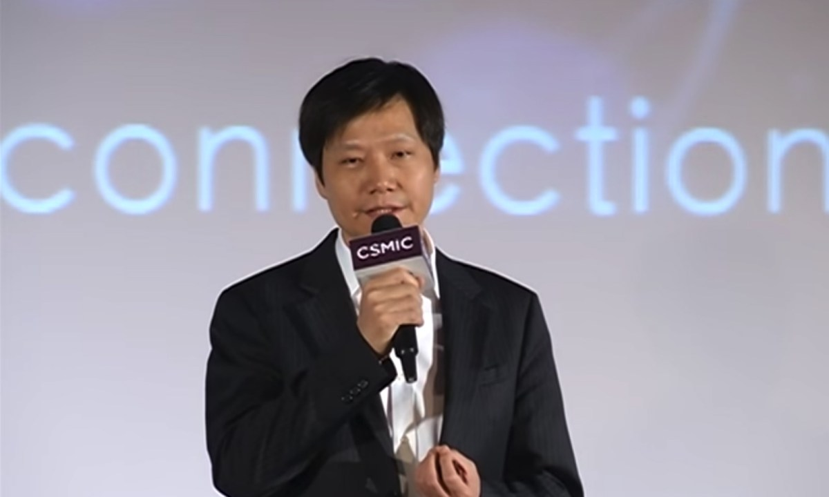 Xiaomi founder Lei Jun at the Cross-Strait Mobile Internet Conference in Taipei in January 2015. Photo: CSMIC