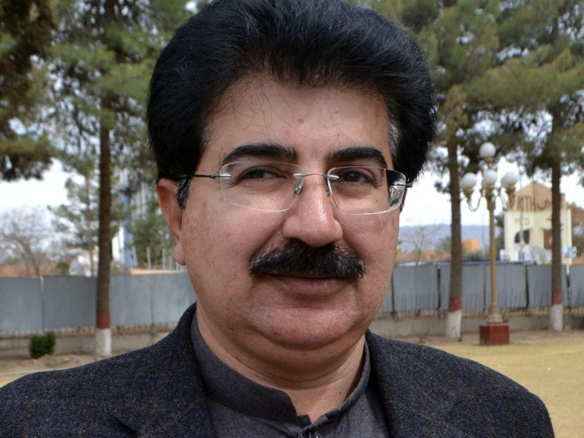 Sadiq Sanjrani, the new Senate chairman, is seen at the Balochistan Assembly in Quetta, Pakistan. Photo: Reuters/ Naseer Ahmed