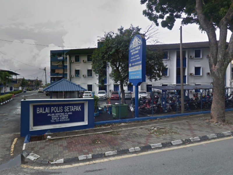 Setapak police station in Kuala Lumpur where the case is being investigated. Photo: Google Maps