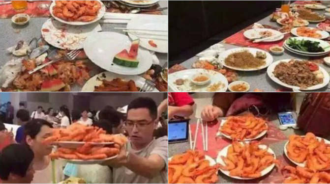Chinese tourists are seen scrambling for food at a buffet restaurant in Thailand. Photo: YouTube screen grabs