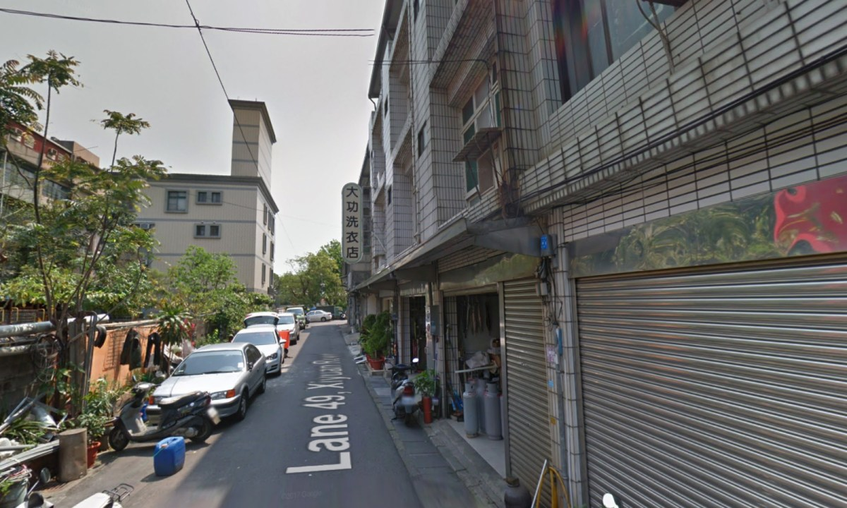 The building on Lane 49 of Xiyuan Road in Zhongli district, Taoyuan City. PHOTO: Google Maps