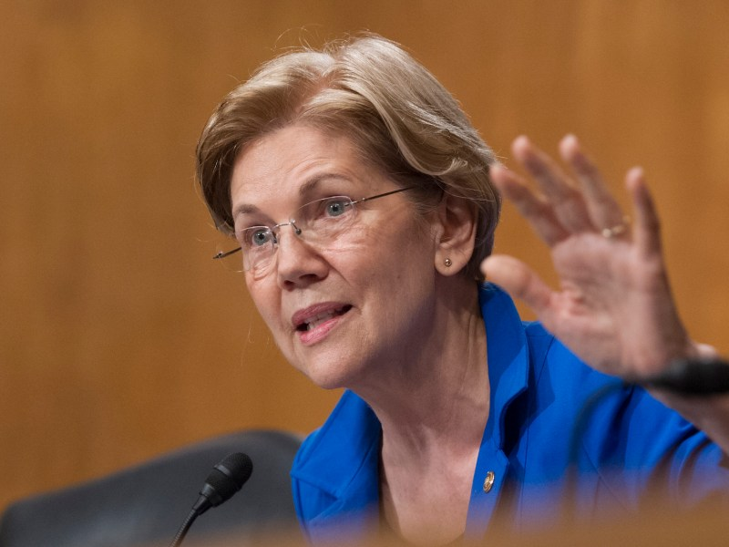 Senator Elizabeth Warren (Democrat) says she does not fear tariffs being set on Chinese goods. File photo from January 2018: Ron Sachs / CNP via AFP